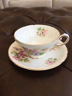 Stanley Fine Bone China Floral Pattern Tea Cup and Saucer