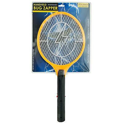 Rechargeable Electric Mosquito Fly Swatter Zapper Pest Insect Tennis Racket NEW
