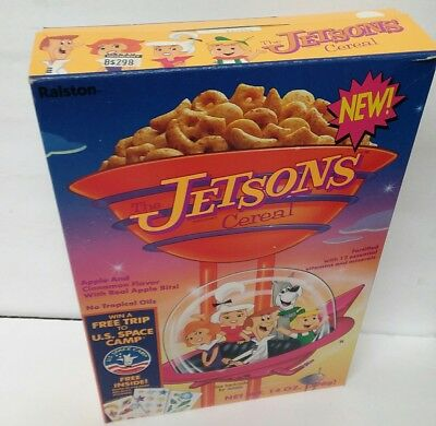 Vintage  1990 Ralston The Jetsons Cereal Box,U.S. Space Camp good old days