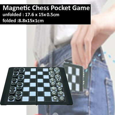 Mini Magnetic Wallet Folding Chess Set Pocket Board Games for Travel 8.8x15x1cm