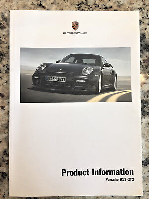 "2008 911 GT2 997 Sales Training Product Information Book 105 pages 12""x 8"" New"