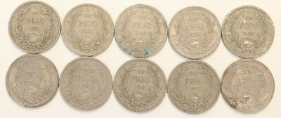 1 Peso Chile 1933 Coin Lot Of 10 Foreign World Currency Combined Ship E6