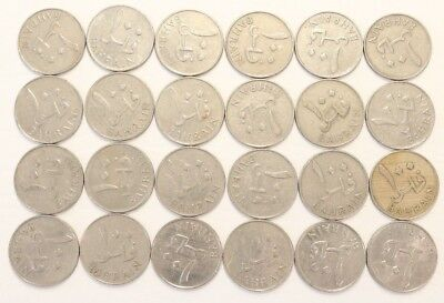 100 Fils Bahrain 1965 Coin Lot Of 24 Foreign World Currency Combined Shipping E2