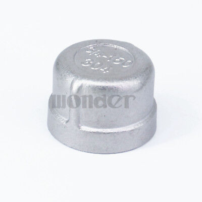 """3/4"""" BSP Female 304 Stainless Steel Pipe Fitting Countersunk End Cap"""