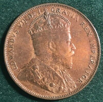 Canada, Newfoundland 1904 H Large Cent Edward Vii, Very Nice Coin