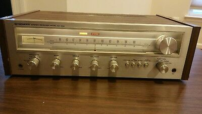 Pioneer SX-450 AM FM Stereo Receiver amplifier vintage lights up knob mic iPod