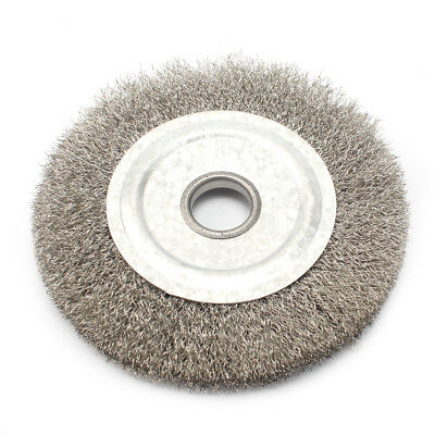 4'' Stainless Steel Wire Wheel Brush Arbor 16mm For Derusting Polishing Grinding