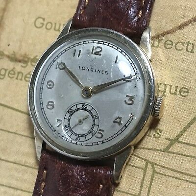 Longines WWII Vintage US Military GI's Watch Swiss Cal. 10L Movement Running