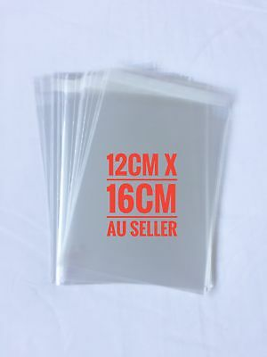 12 x 16cm Self Adhesive Seal Clear CELLO Bags - 70 pieces