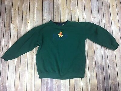Vintage DISNEY POOH Sweater green size XL Women's great condition