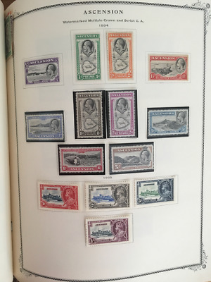 1934-35 British Ascension 2 Complete Sets Vf Mint Og! Scott#23-32, 33-36. $325