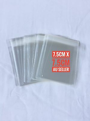 7.5 x 7.7cm Self Adhesive Seal Clear CELLO Bags - 115 pieces