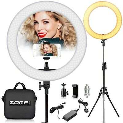 """Pro 18"""" Dimmable Selfie Lighting LED Ring Light with Stand Tripod For Photo Live"""