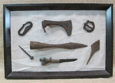 Ancient Viking Warrior Set IX - XI Cent Axe Head, Spearhead, Knife, Arrowhead