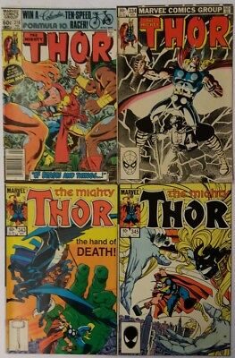 Mighty Thor #316 334 343 345 Comic Book Lot of 4 HiGrade Simonson Marvel Comics