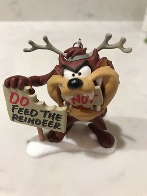 2015 TAZ DO NOT  FEED THE REINDEER  Hallmark  Ornament TASMANIAN DEVIL