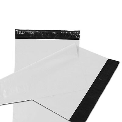 1000 19x24 Poly Mailers Plastic Envelopes Shipping Mailing Bags 2.5 MIL White