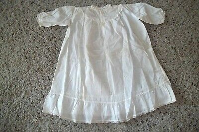 Victorian Baby Cotton Gown Dress with Tiny embroidery and pink ribbon