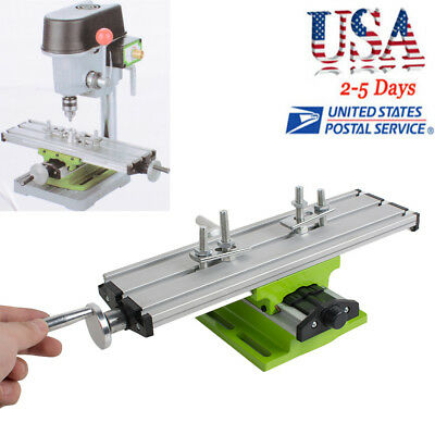 2 Axis Milling Compound Working Table Cross Sliding DIY Lathe Bench Drill Vise