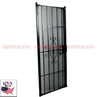 DECORATIVE SECURITY DOOR with glass and frame 36x80 - $275.00 | PicClick