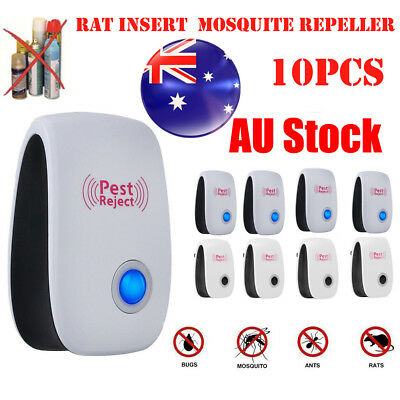 10X Pest Repeller-Ultrasonic-Electronic Mouse Rat Mosquito Insect Rodent Control