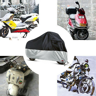 XL Protective Dust Soft Waterproof Cover Lock-holes for Motorcycle Street Bikes