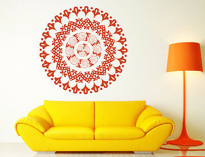 Vinyl Decal Ornament Circle Mandala Meditation Relaxation Yoga Studio Decor n880