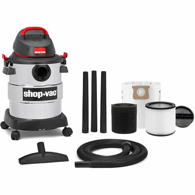Wet/Dry Vacuum 6 Gallon 4.5 Peak HP Stainless Steel Shop-Vac Household Supplies