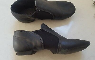 Girls Split Sole Dance Shoes - Size 13 - Leather Upper