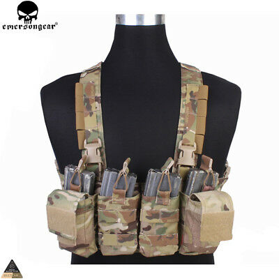 Tactical Chest Rig Vest Military Molle Combat Airsoft Hunting Carrier Paintball