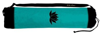 (Black/Jade) - Wai Lana Jade Lotus Tote Bag with Black Lotus. Free Shipping