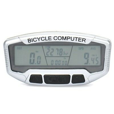 Waterproof Electronic Bicycle Computer Speedometer with 7.1cm LCD Display