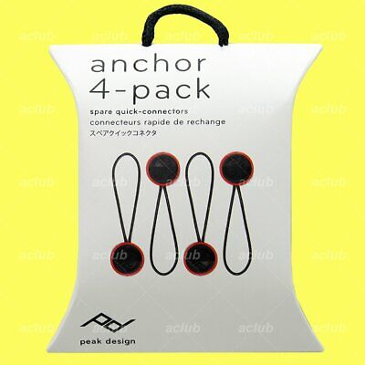 Peak Design Anchor Connector V4 Spare Micro Anchor Quick Connector (Pack of 4)