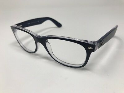7fed8ca45e Ray Ban RB2132 6053 55mm NEW WAYFARER Sunglasses Navy   Clear Frames Z341