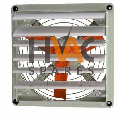 """ATEX Rated Spray Booth Extractor Fan Axial Air Blower and Louvre 400mm 16"""""""