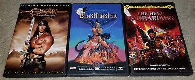 The Beastmaster, Conan The Complete Quest & The New Barbarians DVD Lot