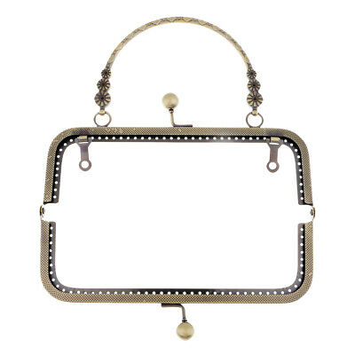 Square Metal Purse Frame Handle For Clutch Bag Accessories Making Clasp Lock