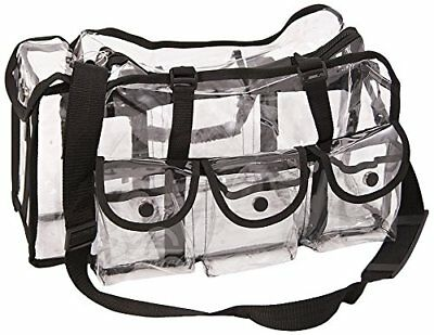 Casemetic Makeup Work Travel Large Carry Clear Set Bag with 6 External Pockets