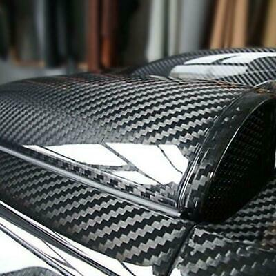 Super Gloss Carbon Fiber Vinyl Film Wrap Bubble Free Release 6D Car Air Sti F6T7