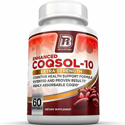 BRI Nutrition COQ10 100mg Ubiquinone Heart Health - 2.6x Higher Total Coenzyme Q