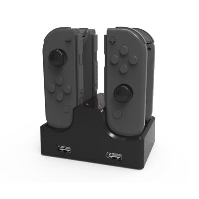 for Nintendo Switch Joy-Con Charge Dock 4 in 1 Controller Charging Stand Charger
