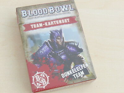 Blood Bowl Teamkarten Dunkelelfen *Neu* Deutsch Team-Kartenset Naggaroth