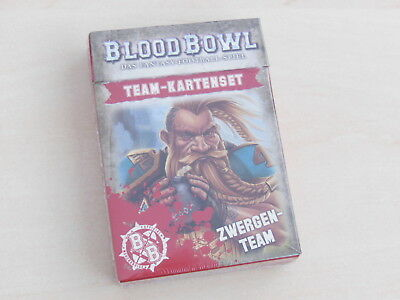 Blood Bowl Teamkarten Zwerge *Neu* Deutsch Iron Dwarfs