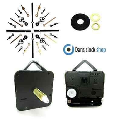 Replacement Supersize Quartz Non Ticking Clock Movement Mechanism Metal Hands