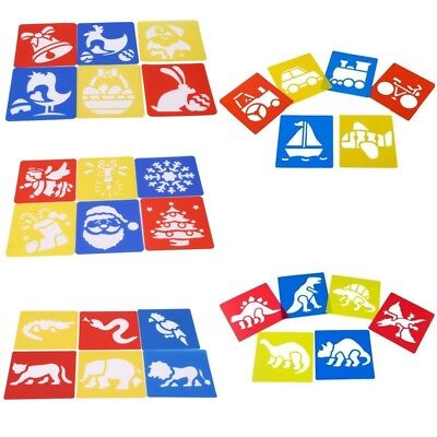 6pcs Painting Stencils Embossing Template Animals Diary Scrapbook Child DIY Toys