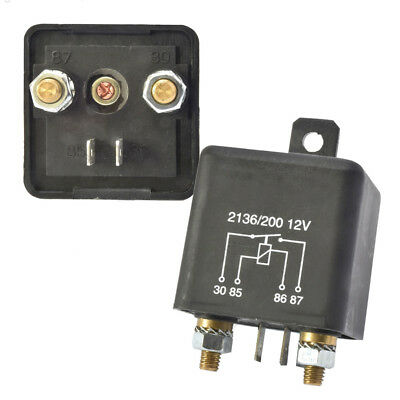 12V 200A Automotive Changeover Relay 4-Pin Normally Open Split Charging Relay