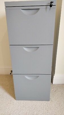 3 Draw Lockable Filing Cabinet complete with 60 folders (HX3 9UE)