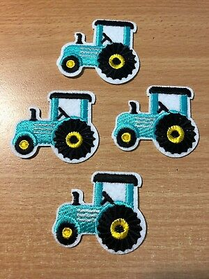 1 Embroidered Iron-On Patch Applique, Tractor