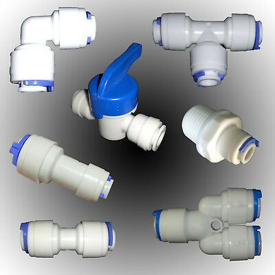 """Window Cleaning 1/4"""" 6mm water filter fittings Pole Pure Water R.O ro UK"""