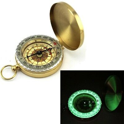 Cebbay Portable Outdoor Compass Brass Camping Hiking Navigation Essential Ring
